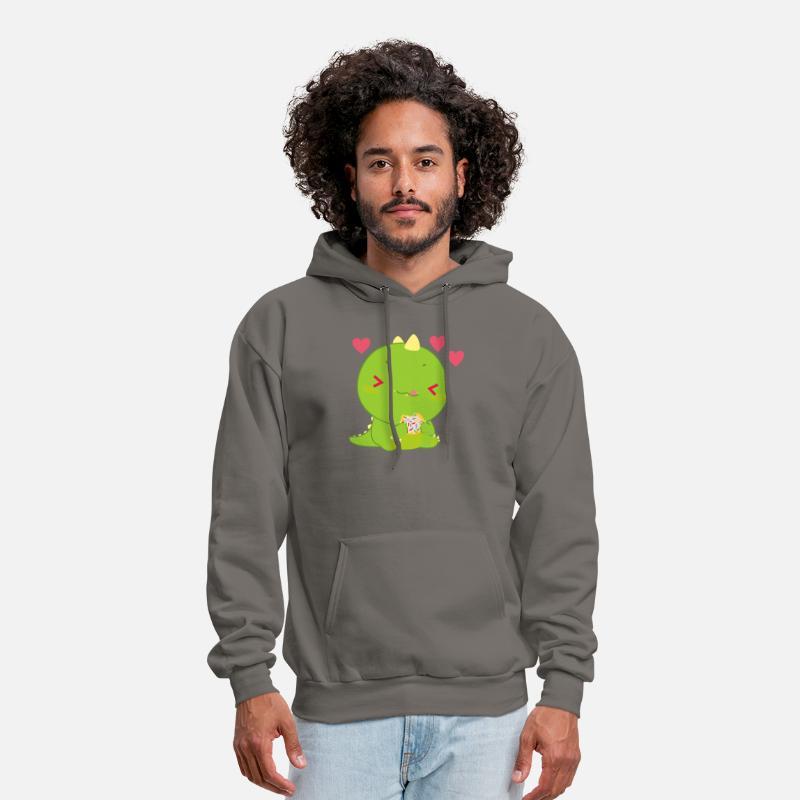 Cute Dino Hoodie Sweatshirt Classic for Men