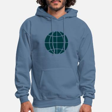 Globe Icon Earth symbol - Men's Hoodie