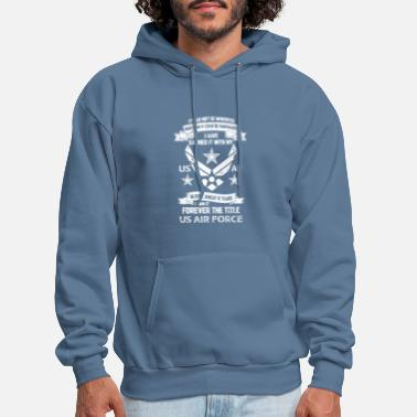 Fighter US AIR FORCE VETERAN TITLE - Men's Hoodie