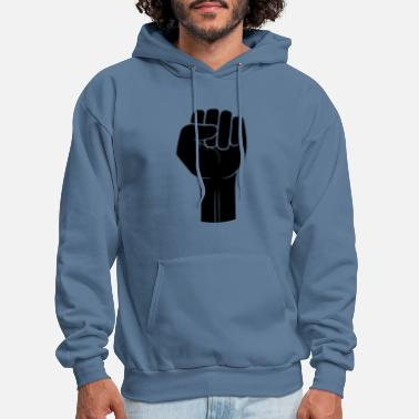 Holding symbol fist revolution hand stretch up air hold sh - Men's Hoodie