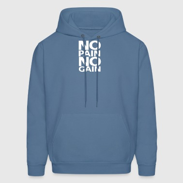 No Pain No Gain logo | White - Men's Hoodie