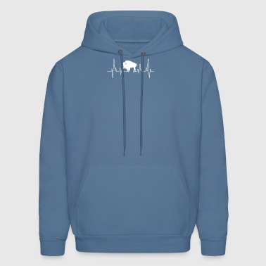 bison heartbeat tee shirt - Men's Hoodie