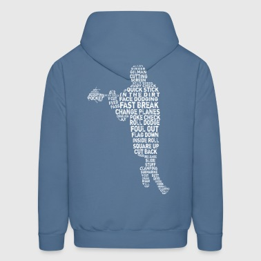 Lacrosse Player Calligram - Men's Hoodie