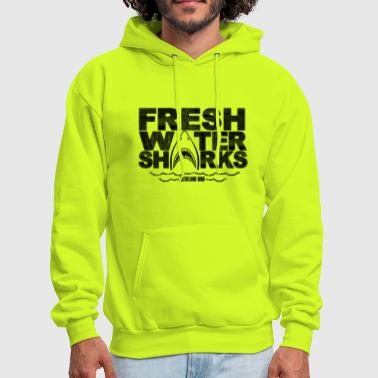 Fresh Water Fresh Water Sharks - Jumping v3 - Men's Hoodie