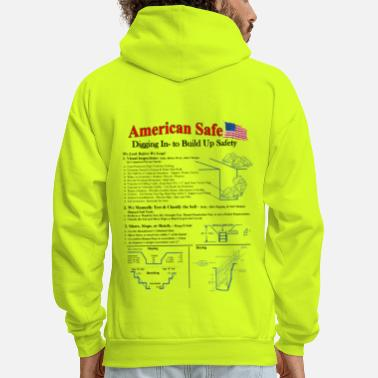 Trenching & Excavation Safety - Shirt Back - Men's Hoodie