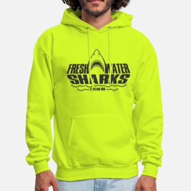 Fresh Water Fresh Water Sharks - Jumping v2 - Men's Hoodie