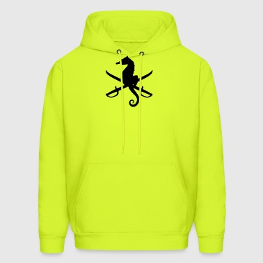 seahorse with swords - Men's Hoodie