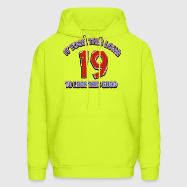 19th birthday designs - Men's Hoodie