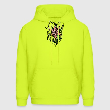 pink_big_flower - Men's Hoodie