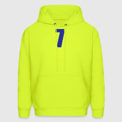 Lucky Number 7 with Lucky Chinese Character - Men's Hoodie