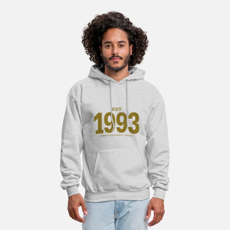 1993 Hoodies & Sweatshirts - est. 1993 Nineteen Ninety Three - Men's Hoodie ash