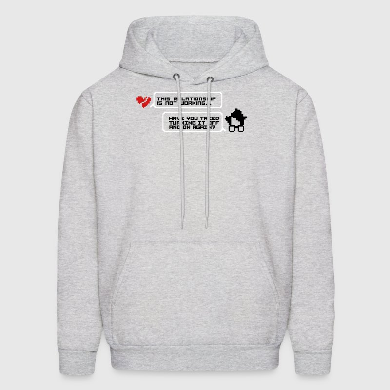 Turning it off and on relationship - Men's Hoodie