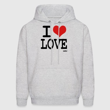 i love love by wam - Men's Hoodie