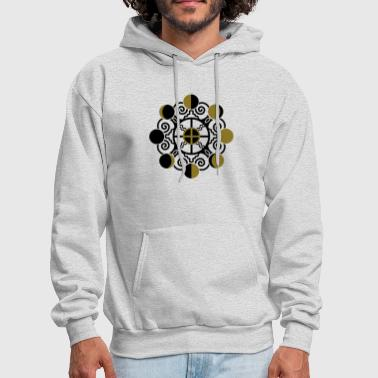 Moon Phases & Earth - Symbol change is stability - Men's Hoodie