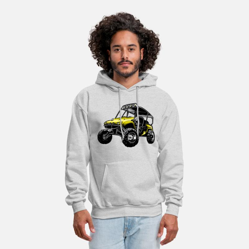 Utv Hoodies & Sweatshirts - Suzuki Off-Road UTV Side By Side - Men's Hoodie ash
