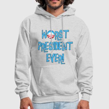 Obama Worst President Ever - Men's Hoodie