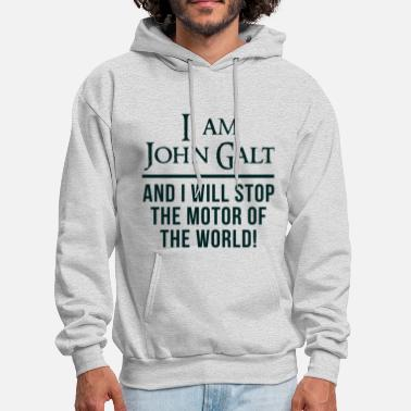 Atlas Atlas Shrugged John Galt Motor of the World - Men's Hoodie