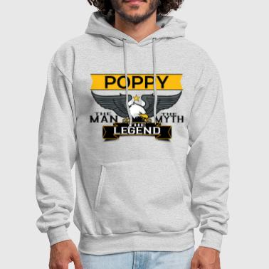 Poppy The Man The Myth The Legend - Men's Hoodie