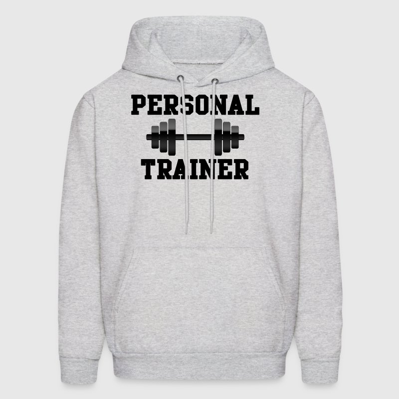 Personal Trainer, Black Weights Dumbell Fitness - Men's Hoodie