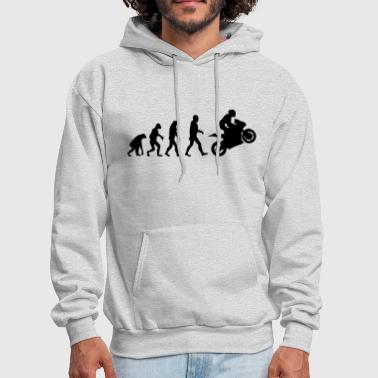 Evolution of Biker - Men's Hoodie