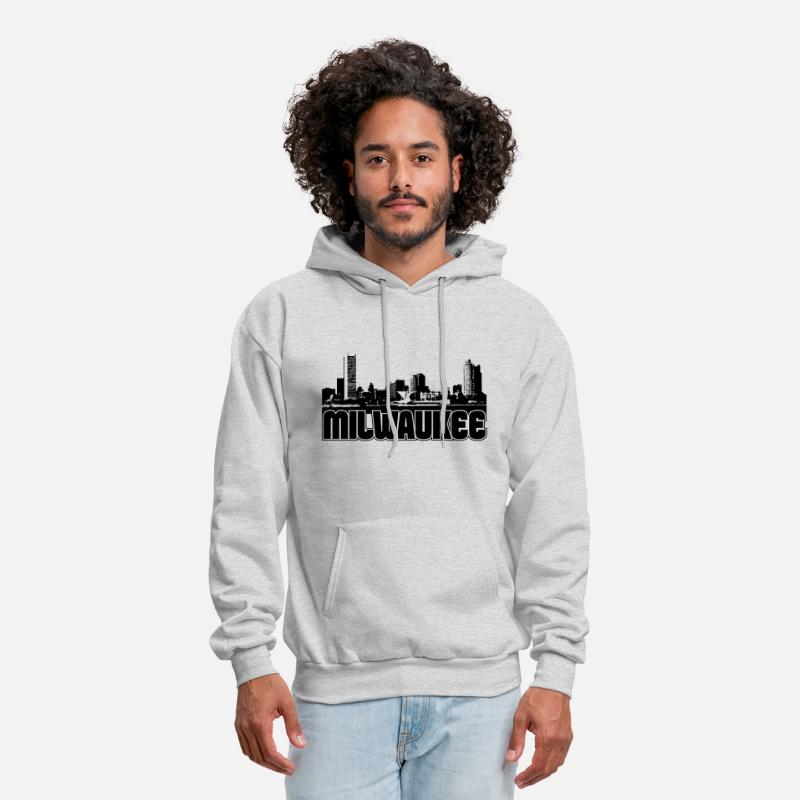 Milwaukee Hoodies & Sweatshirts - Milwaukee Skyline - Men's Hoodie ash