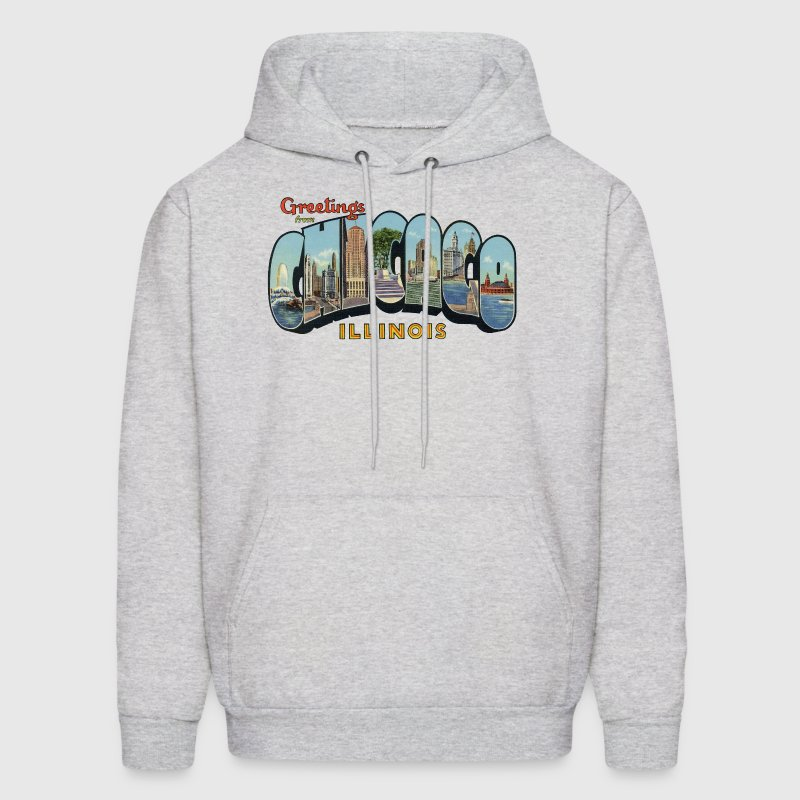 Greetings Chicago Illinois Apparel - Men's Hoodie