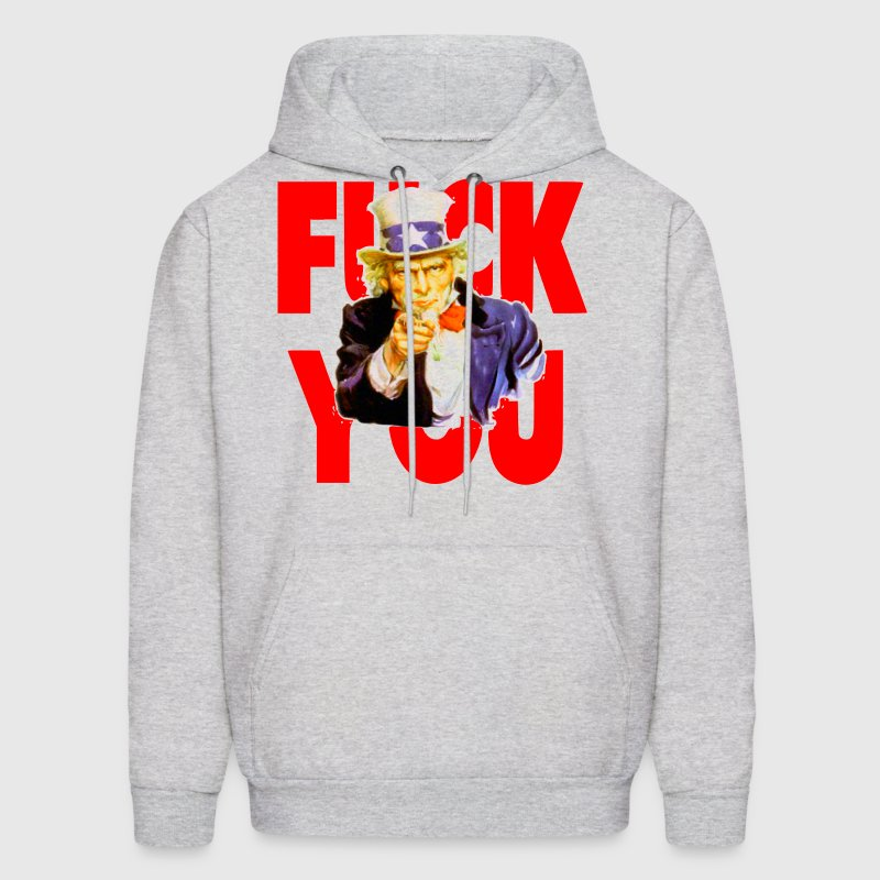 Uncle Sam Says Fuck You - Men's Hoodie