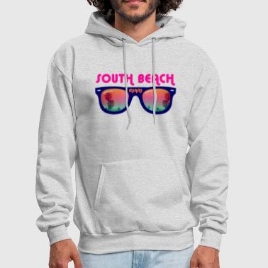 South Beach South Beach Miami sunglasses - Men's Hoodie