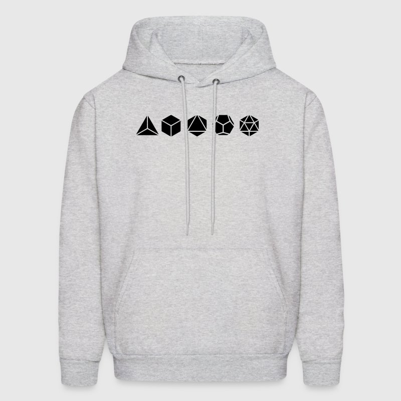Platonic Solids, Sacred Geometry, Mathematics - Men's Hoodie