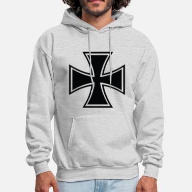 Iron Cross Biker Cross - Men's Hoodie