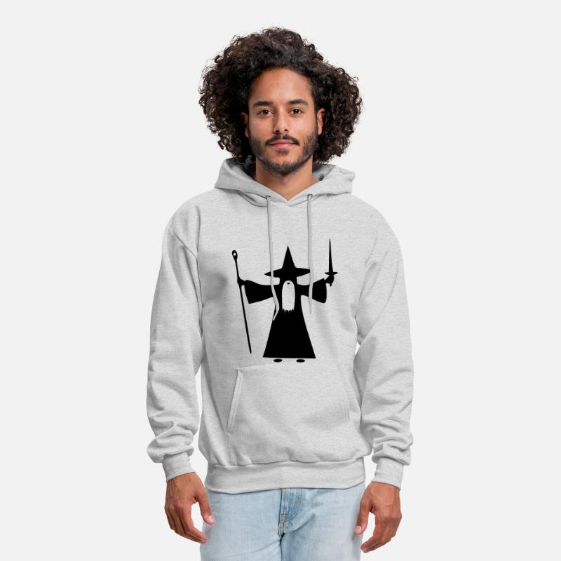 Movie Hoodies & Sweatshirts - Wizard - Men's Hoodie ash