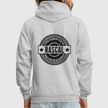 Vintage RASCAL quotes - Not in that club - Men's Hoodie