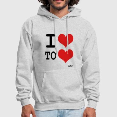 i love to love by wam - Men's Hoodie
