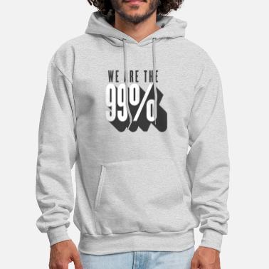 We Are The 99 Percent 99 percent - wall street - Men's Hoodie