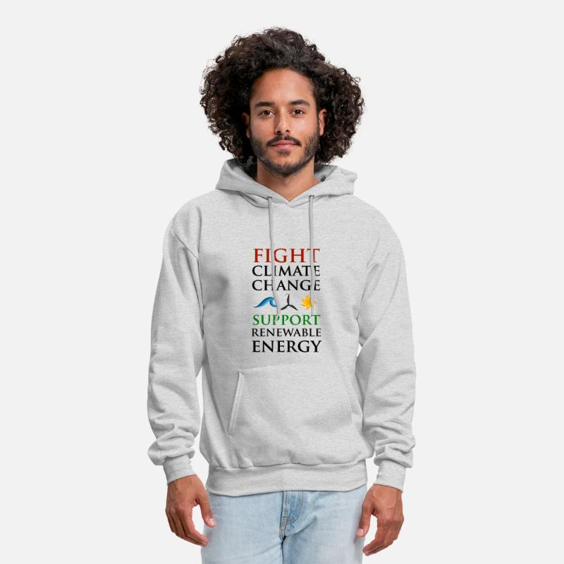 Change Hoodies & Sweatshirts - Fight Climate Change - Men's Hoodie ash