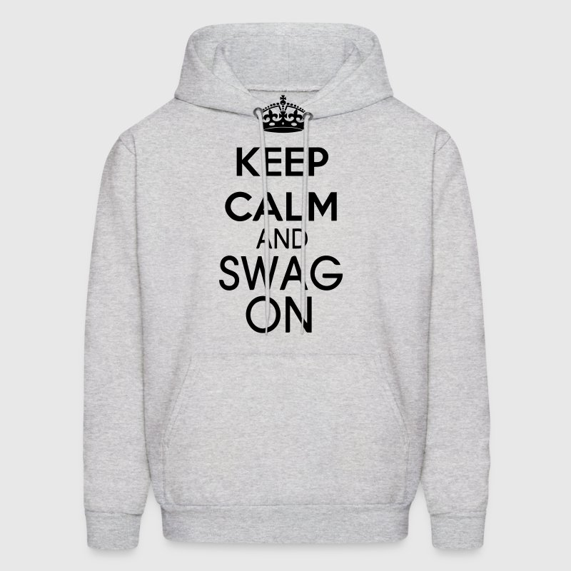 KEEP CALM AND SWAG ON - Men's Hoodie