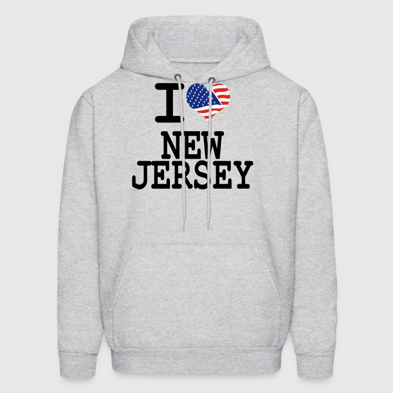 i love new jersey - Men's Hoodie