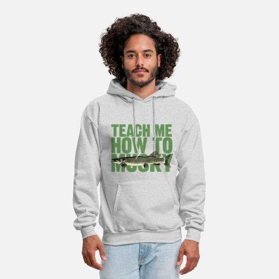 "Humor Hoodies & Sweatshirts - Men's hoodie ""Teach Me How To Musky"" 