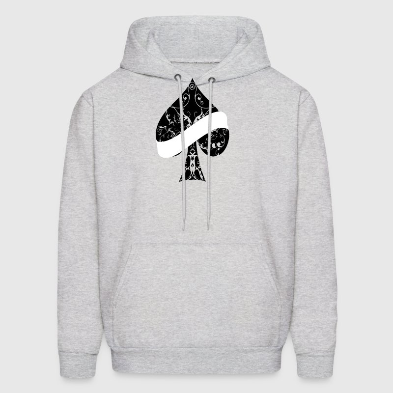 Ace of Spades floral tribal banner spade EMPTY - Men's Hoodie