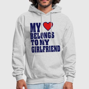 Property MY HEART BELONGS TO MY GIRLFRIEND - Men's Hoodie