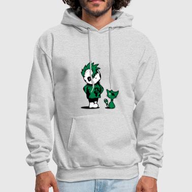 A little punk with a little cat - Men's Hoodie
