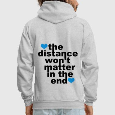 Relationship Distance Won't Matter in the End Blue Hearts - Men's Hoodie