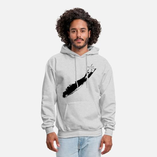Island Hoodies & Sweatshirts - Long Island New York, 2 Black - Men's Hoodie ash