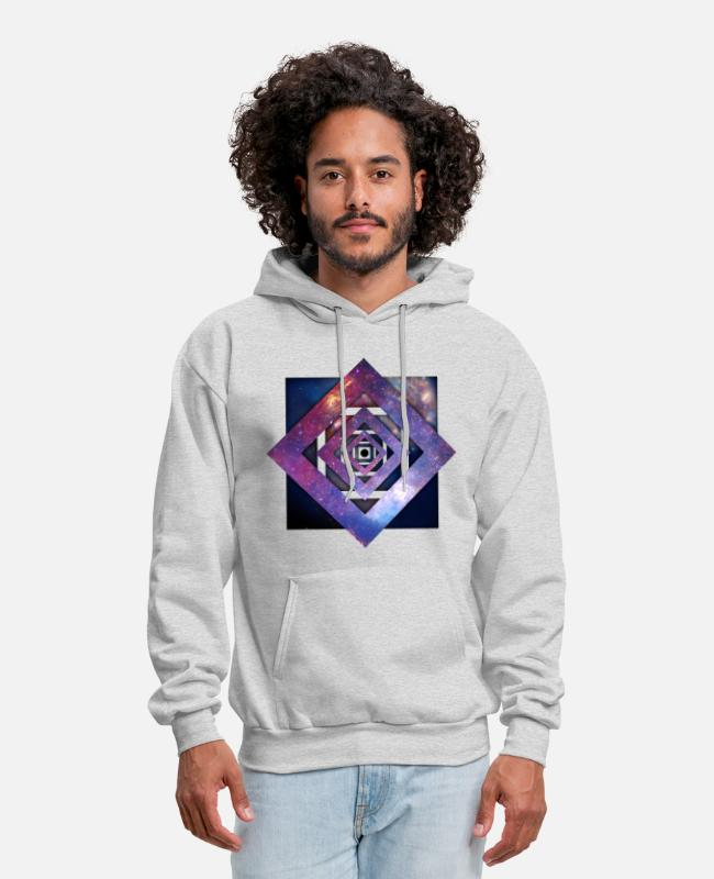 Space Hoodies & Sweatshirts - Art - Twisted Galaxy - Men's Hoodie ash
