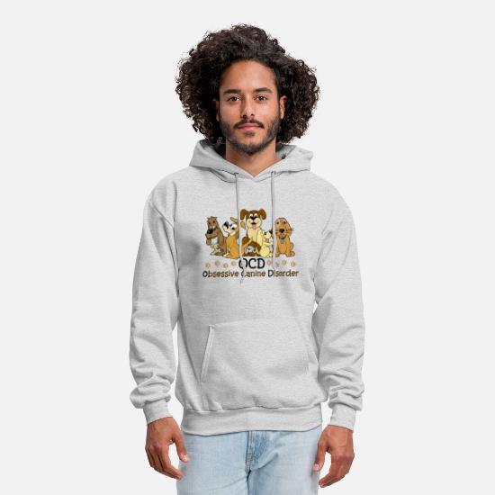 Dog Hoodies & Sweatshirts - OCD Obsessive Canine - Men's Hoodie ash