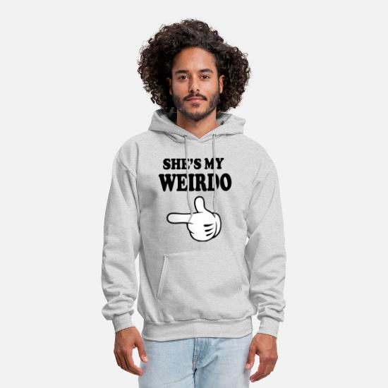 Wedding Hoodies & Sweatshirts - shes my weirdo - Men's Hoodie ash