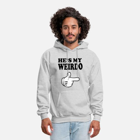 Couples Hoodies & Sweatshirts - hes my weirdo - Men's Hoodie ash