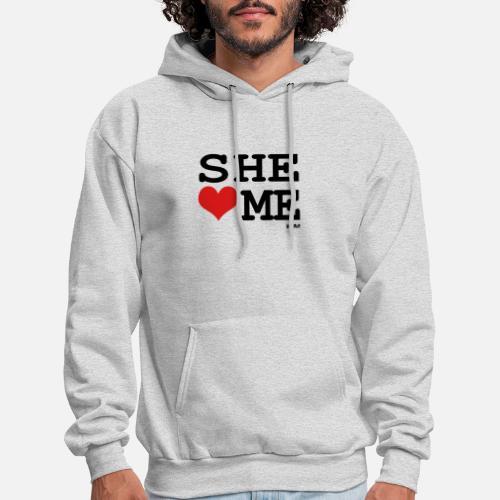 93e727b052a she loves me by wam Men s Hoodie