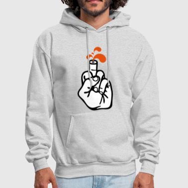 Middle finger n' blood 3c - Men's Hoodie