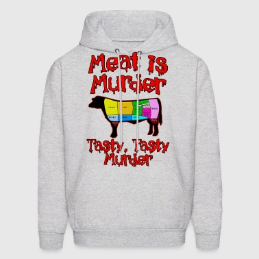 Meat is Murder.  Tasty, tasty Murder - Men's Hoodie